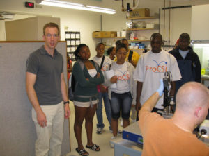 ProCSI 2008 members get a tour of a lab