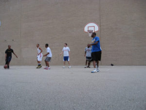 ProCSI 2008 members playing basketball
