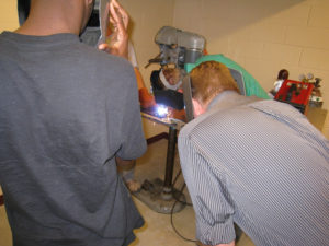 ProCSI 2009 members watch a welding demonstration