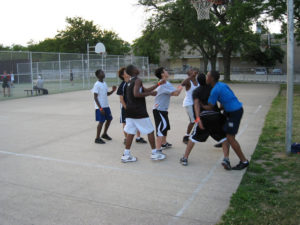 ProCSI 2009 members play a game of basketball