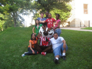 A ProCSI 2010 group poses with Bucky Badger