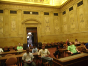 ProCSI 2011 members sit in a room at the Wisconsin capitol