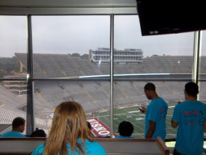 ProCSI 2012 members overlook the field at Camp Randall