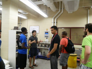 ProCSI 2014 members get a tour of a lab
