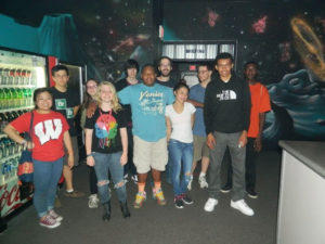 A ProCSI 2014 group photo while playing laser tag