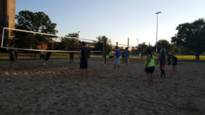 ProCSI 2015 members play a game of volleyball