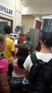 ProCSI 2015 members look at a presentation at a lab