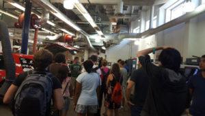 ProCSI 2015 members take a tour of a lab
