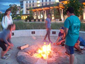 ProCSI 2016 campers have a campfire