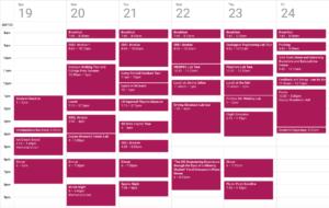 Schedule for ProCSI 2015