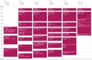 Schedule for ProCSI 2009